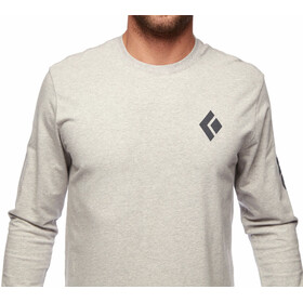 Black Diamond Logo Langarm T-Shirt Herren nickel/dune heather